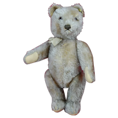 14 Inch Camel Colored Fully Jointed 1950s Steiff Teddy Bear ID