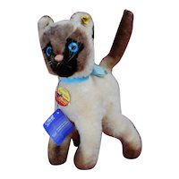 Mint Vintage Cosy Siam Steiff Cat All ID string tag