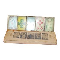 Set of Five Tin cardboard Lithograph Dexterity Games