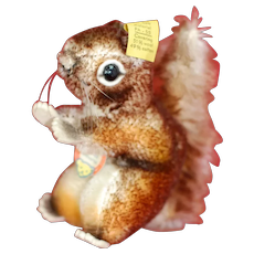 4 Inch 1950s Steiff Perri Cop. Walt Disney Prod. Squirrel