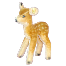 Sweet 1950s Steiff Spotted Fawn  Deer in Mohair ID