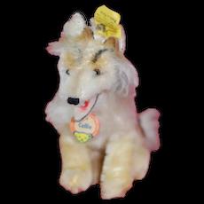 1950s Small Steiff Collie Dog All ID