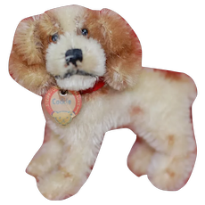 "1950s Small Steiff Standing ""Cockie"" Cocker Spaniel Dog All ID"