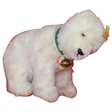 Small Size Jointed head 1950s Steiff standing Polar Bear All ID