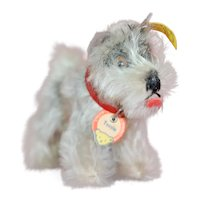 "Mint All ID 1950s Steiff ""Tessie"" Terrier Dog"