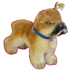 1950s Small Size Steiff  Sarras  Boxer Dog All ID