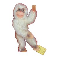 Smallest Size 1950s White Steiff Jointed Monkey ID