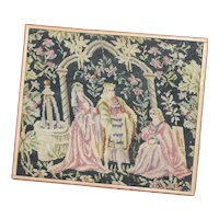 Doll House Accessory 4x4 Vintage Wall Tapestry Doll House Wall Hanging