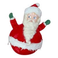 Stuffed Revolving Musical Santa Claus Roly Poly Toy Jingle Bells