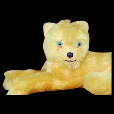 1930s Stuffed Animal  Lying Cat English Maker