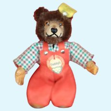 Excellent Condition 1950s Steiff Teddyli Dressed Teddy Bear all ID