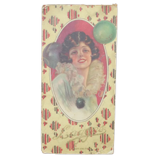 "Beautiful Pin-up Girl Art Deco ""Lagges"" Chocolate Candy Box"