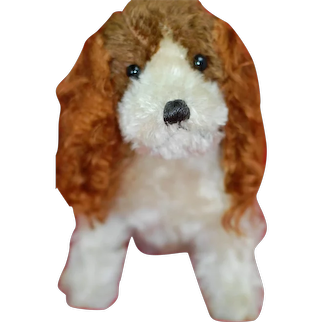 Excellent Quality 1930s Sitting Stuffed toy Dog Swivel head
