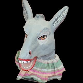 Awesome Vintage Political  Donkey ,Mule ,Jack Ass Parade Mask