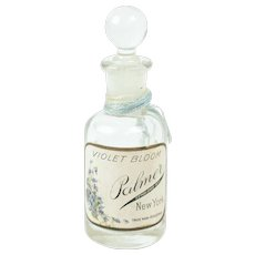"Antique Glass Palmer Perfume Bottle with Original Label 3 1/4"""