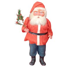 Beautiful 15 inch all original German Wood Cutter Santa Claus Candy Container