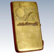 Russian Antique Solid Silver Cigarette Case, 11 Artel