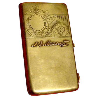 Russian Antique Solid Silver Cigarette Case, 11 Artel
