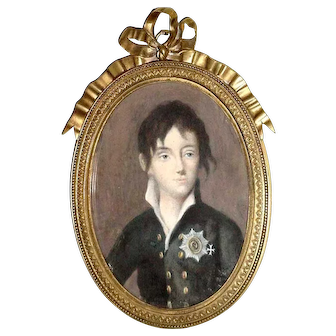 Miniature Portrait Of Russian Tsar Nicolas I By N. Argunov