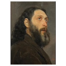 Portrait Of Russian Man By Italian Painter Alberto Colucci, c.1870s