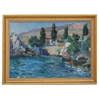 D.A.Nalbandyan, b.1906, Beautiful Russian Oil Painting, 1975, Listed