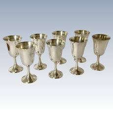 Manchester Set of 8 Sterling Goblets