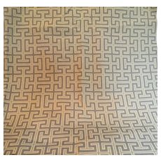 Geometric, Greek Key Designer Fabric, 2 yards