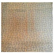 Geometric, Greek Key Designer Fabric, 2 yards