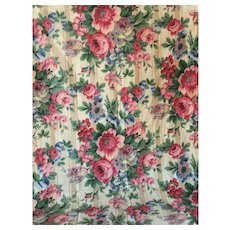 Vintage Cabbage Rose Chintz from Rose Cummings