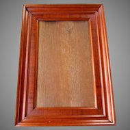 Early ANTIQUE 19th Century Mahogany Veneer PICTURE FRAME circa 1840