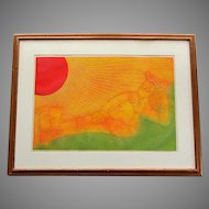 "Vintage SERGIO GONZALES TORNERO Mid Century Etching "" Sunbather "" Trial Proof 1971"