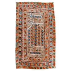 ANTIQUE 19th Century GREEK ISLANDS Embroidered Ottoman Prayer Cloth TAPESTRY