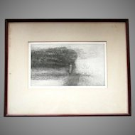 Vintage HAROLD ALTMAN Limited Edition 29/40 ETCHING Figure and Foliage V 1960