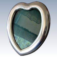 Antique ART NOUVEAU Heart Shaped Sterling Silver PICTURE FRAME Spaulding