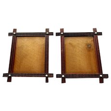 Pair ANTIQUE 19th Century VICTORIAN ERA Walnut Picture Frames circa 1880