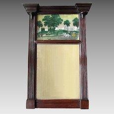 ANTIQUE 19th Century  Federal Style TRUMEAU MIRROR Mahogany