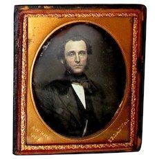 Antique RUFUS ANSON 1/6th Plate DAGUERREOTYPE Photograph Portrait of a Gentleman