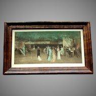 ANTIQUE Franz Hanfstaengl Print Cremorne Gardens No. 2 by JAMES McNEILL WHISTLER