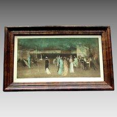 ANTIQUE Franz Hanfstaengl Print Cremorne Gardens No. 2 by JAMES McNEIL WHISTLER