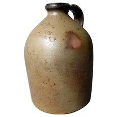 "Small Antique 19th Century A.J. BUTTLER 7 1/4"" Stoneware Jug - New Brunswick N.J."