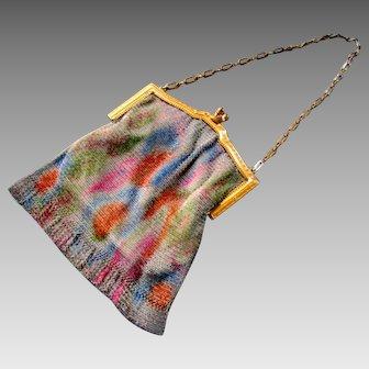 Vintage Whiting & Davis DRESDEN BAG Fine Mesh Handbag - Flapper Purse