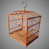 Vintage Chinese Bamboo Birdcage
