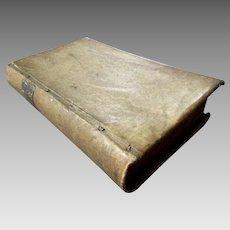 Antique Vellum Book - Compendium Antiquitatum Graecarum E Profanis Sacrarum 1734 - CHRISTIANUS BRUNINGS