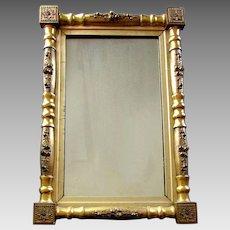 Antique 19th Century FEDERAL STYLE Gilt Wood & Gesso MIRROR Original Gold Finish