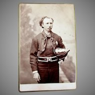 ANTIQUE Occupational Cabinet Card Photograph FIRE FIGHTER Fireman