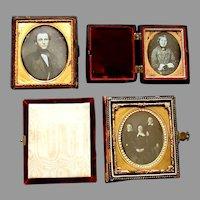 3 Antique 19th Century Daguerreotype Photographs