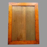 ANTIQUE Currier & Ives Style TIGER MAPLE FRAME Mortise & Tenon Construction 1840