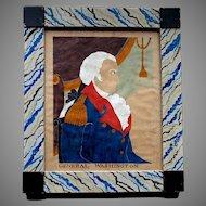 American Folk Art - GARRETT B. FRENCH - Watercolor Painting - General Washington