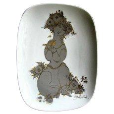 Vintage BJORN WIINBLAD Rosenthal STUDIO LINE Porcelain Platter circa 1980