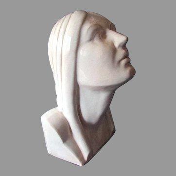 Vintage MOUNTAINSIDE POTTERY Art Deco Sculpture - Female Figure -  circa 1929 - 1941